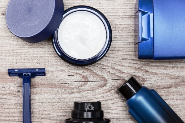 Various cosmetic products for men